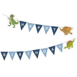 Vlaggenlijn Happy Dinosaurus 180cm