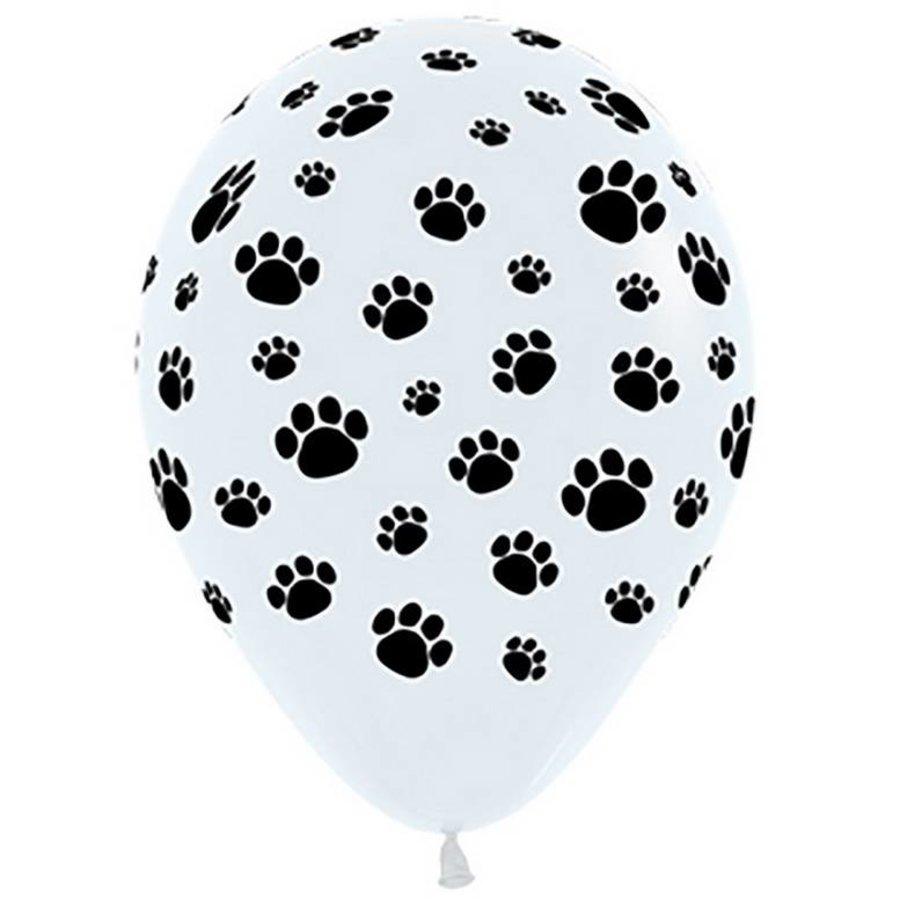 Ballonnen met hondenpootjes 5 stuks