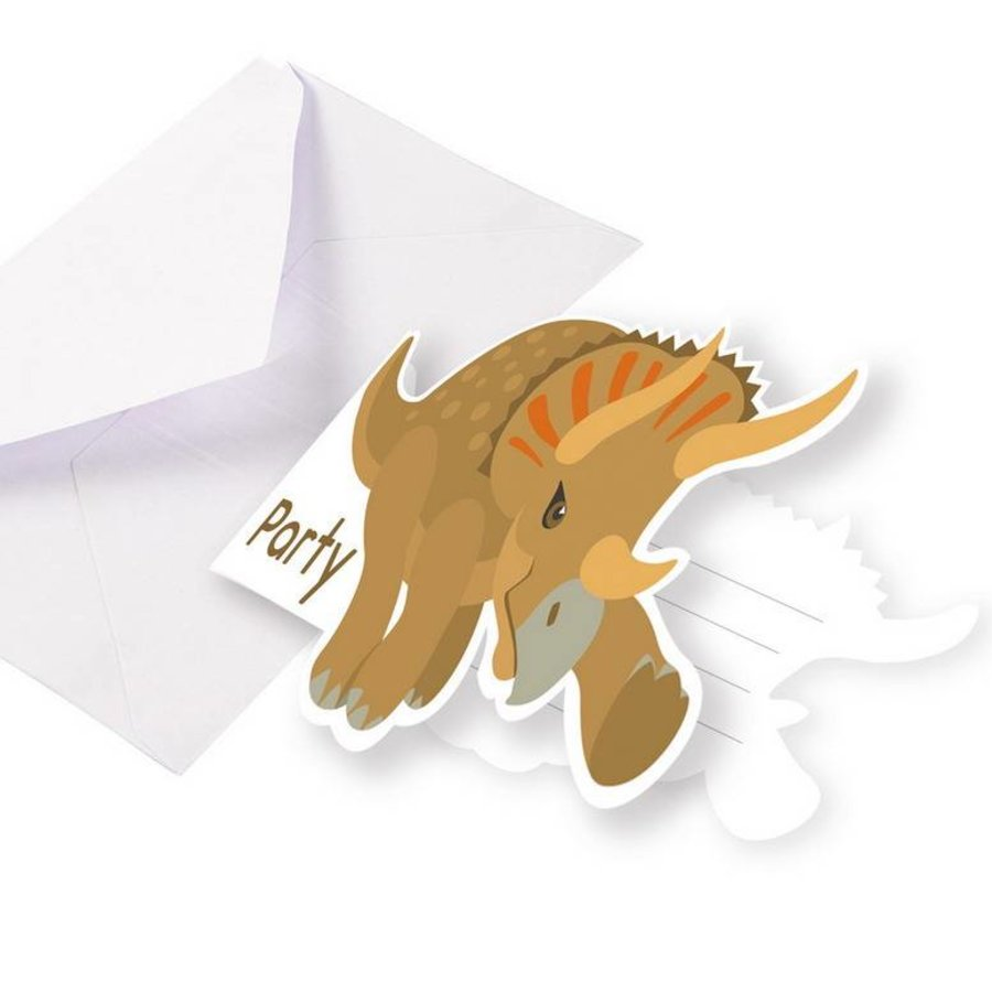 Uitnodigingskaartjes  Happy Dinosaurus