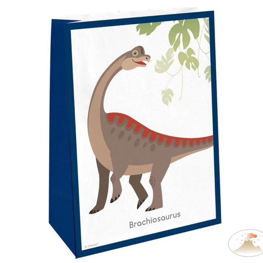 Feestzakjes  Happy Dinosaurus luxe 4 stuks