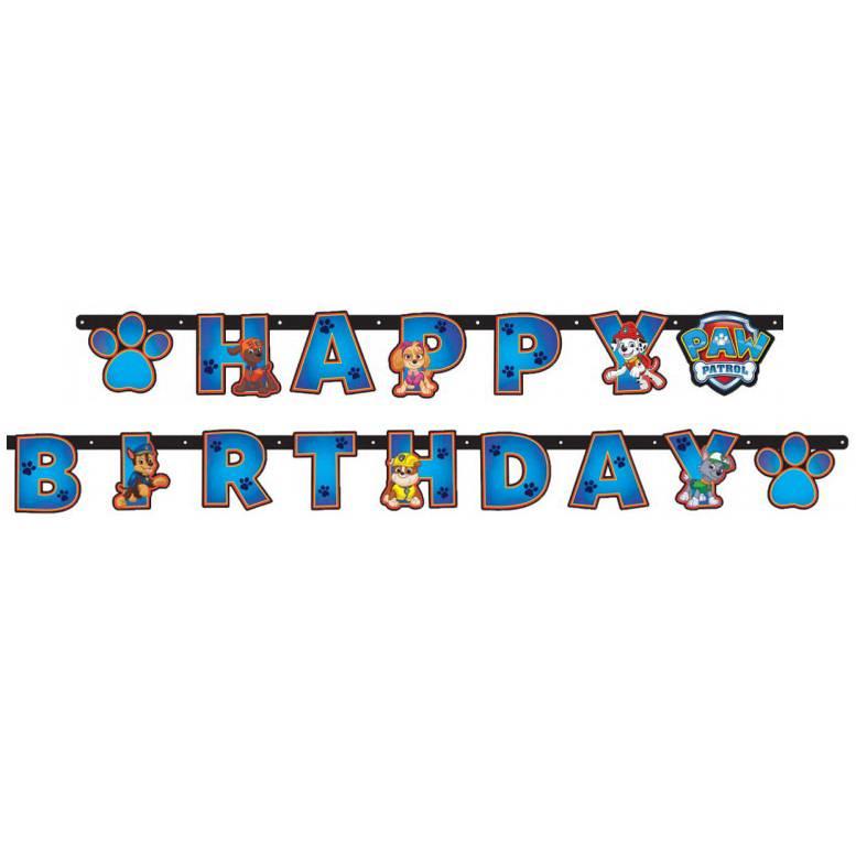 Letterslinger Happy Birthday Paw Patrol