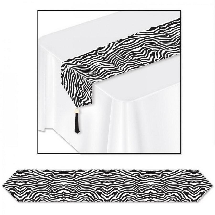 Tafelloper met zebra print