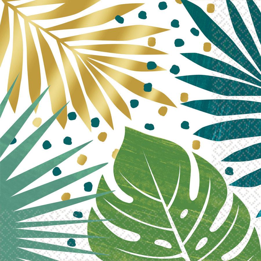 Servetten Jungle en palmbladeren 16 stuks