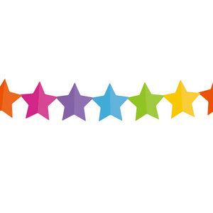 Slinger sterren gekleurd 6 meter