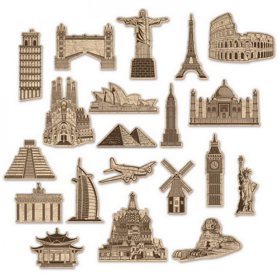 Decoraties Around the World 20 stuks