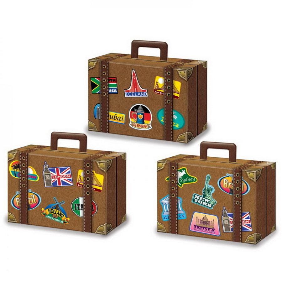 Snoep en Snack reiskoffers 3 stuks