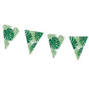 Vlaggenlijn palmbladeren papier 130cm
