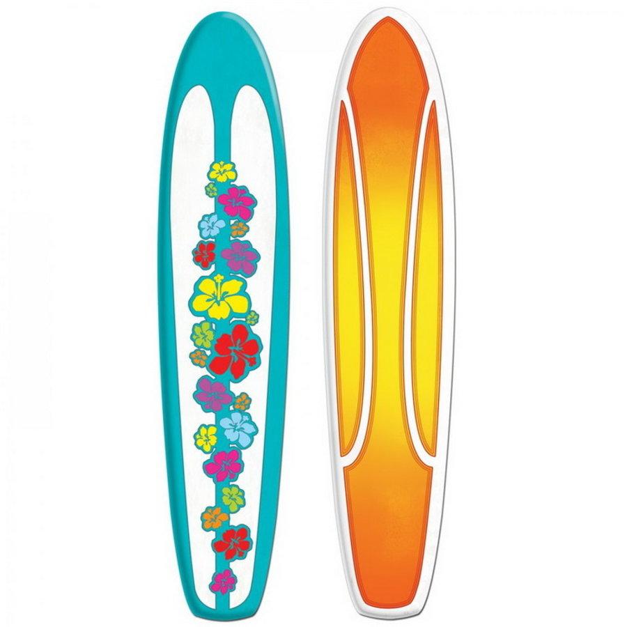 Decoratie surfplank dubbelzijdig bedrukt