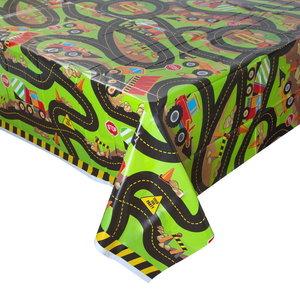 Tafelkleed Bouwauto's
