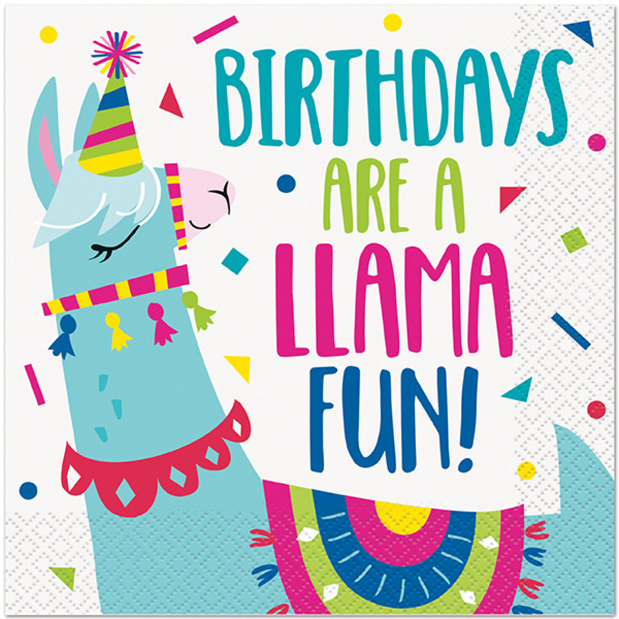 Servetten Crazy Lama Birthday