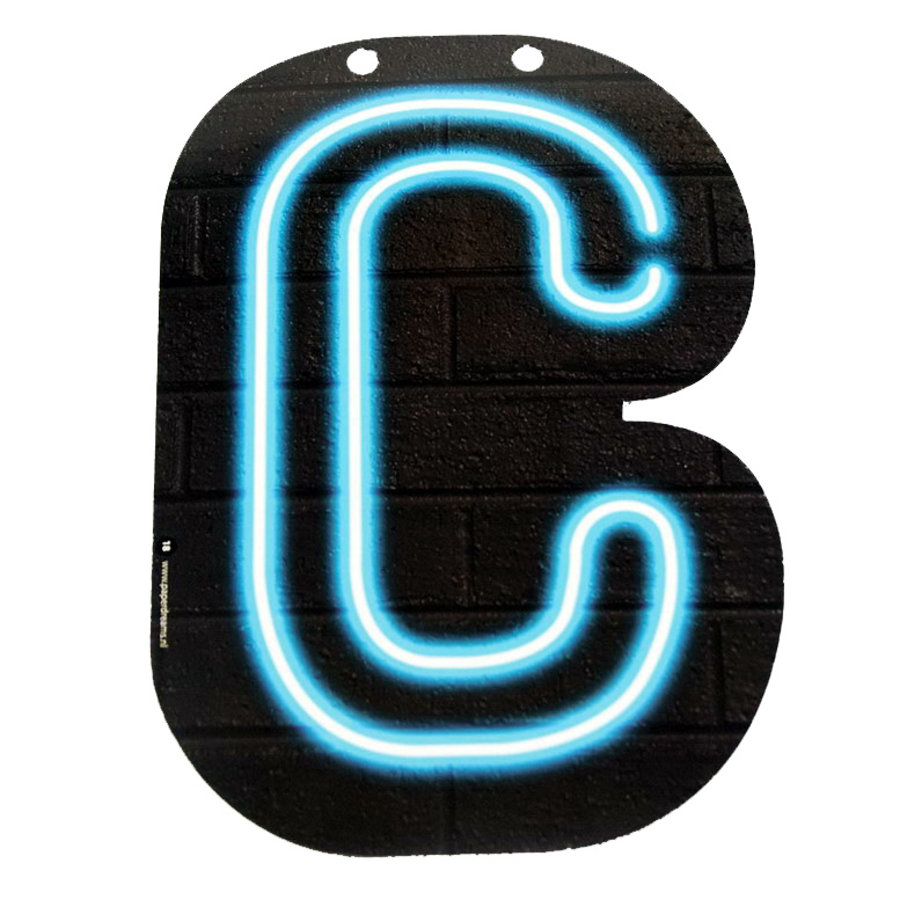 NEON letter C voor naamslinger