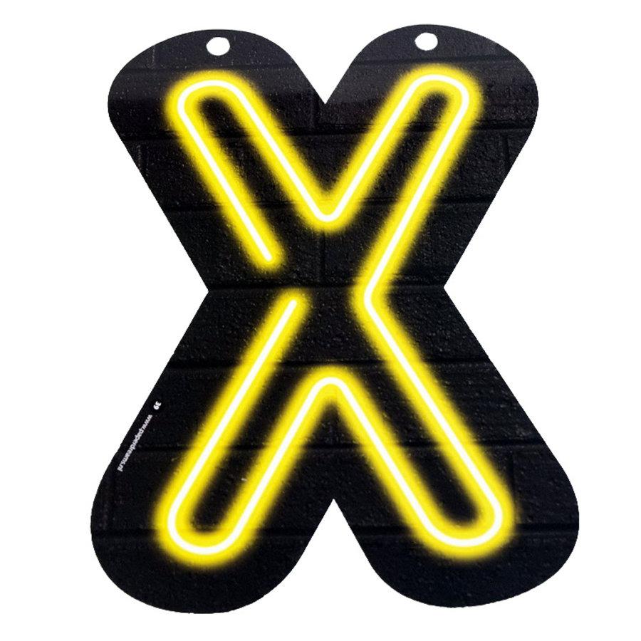 NEON letter X voor naamslinger