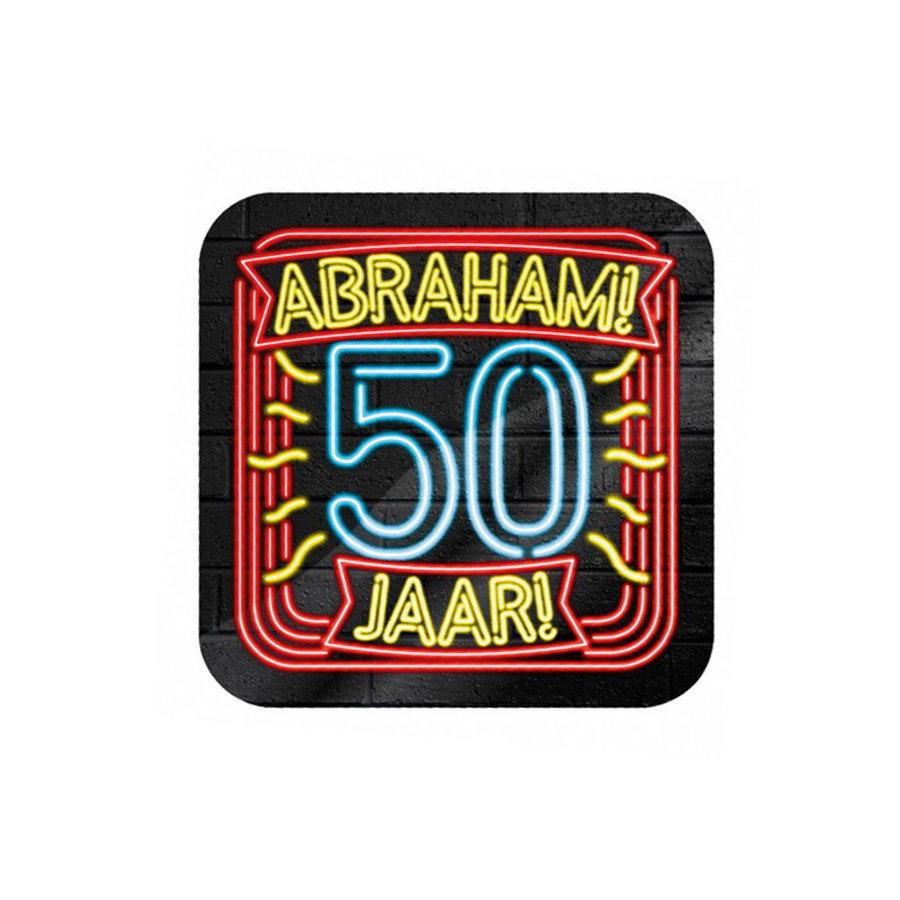 NEON Onderzetters Abraham 50 jaar