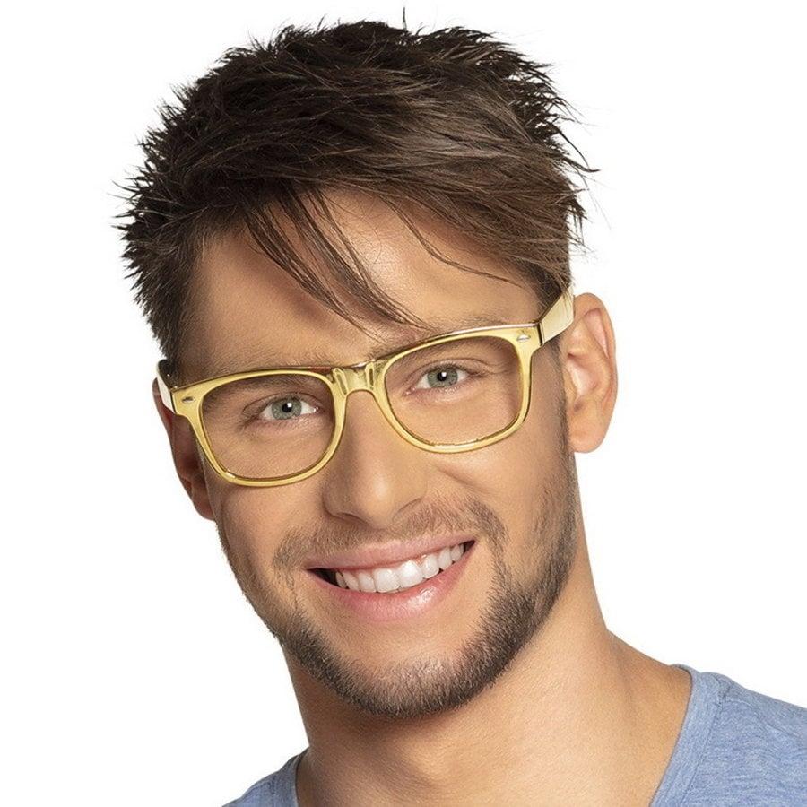 Bril hip goudkleurig