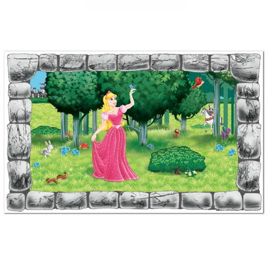 Muurposter Prinses in tuin