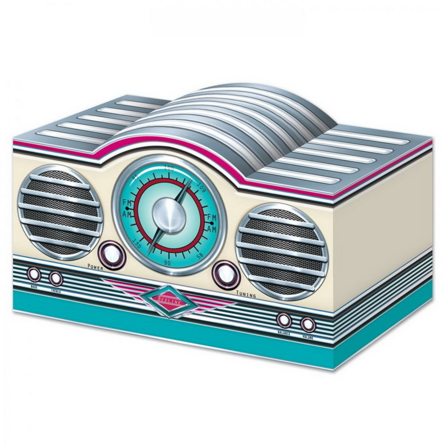 Tafeldecoratie Sixties Radio