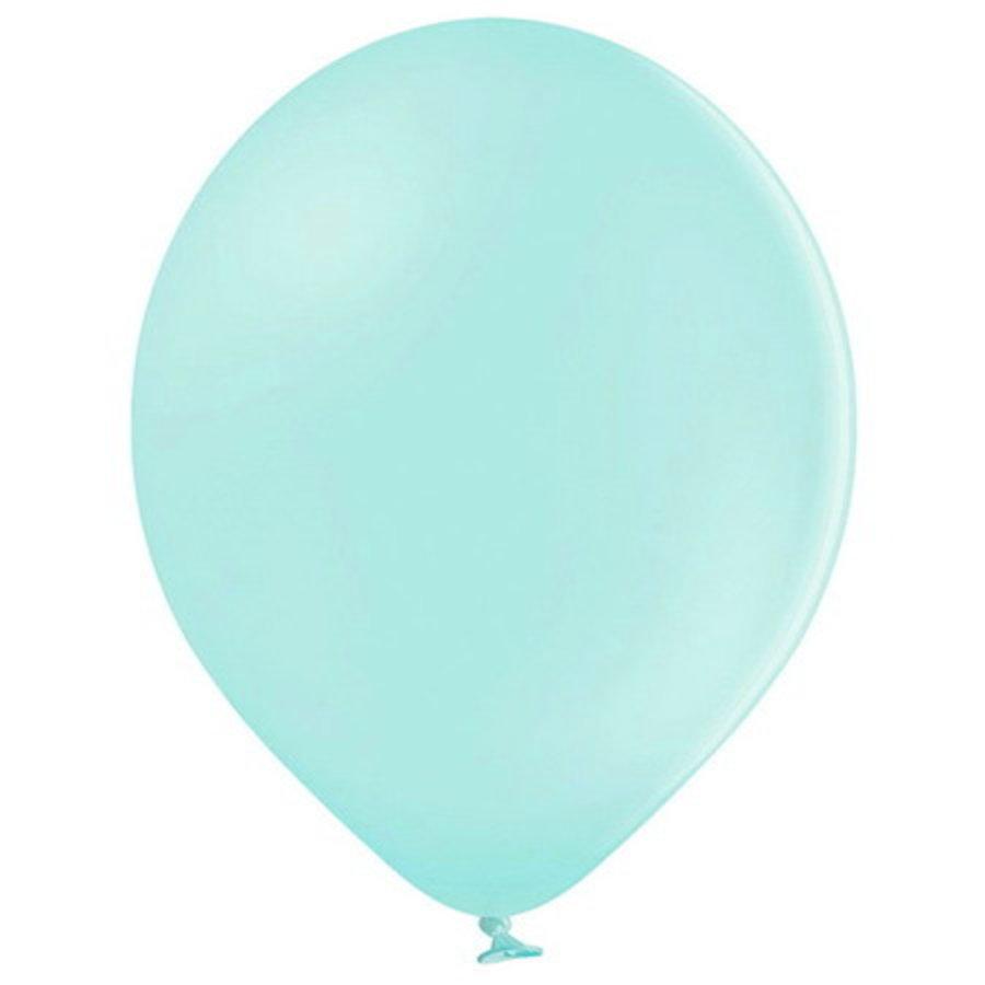 Ballonnen pastel licht mintgroen 10 stuks