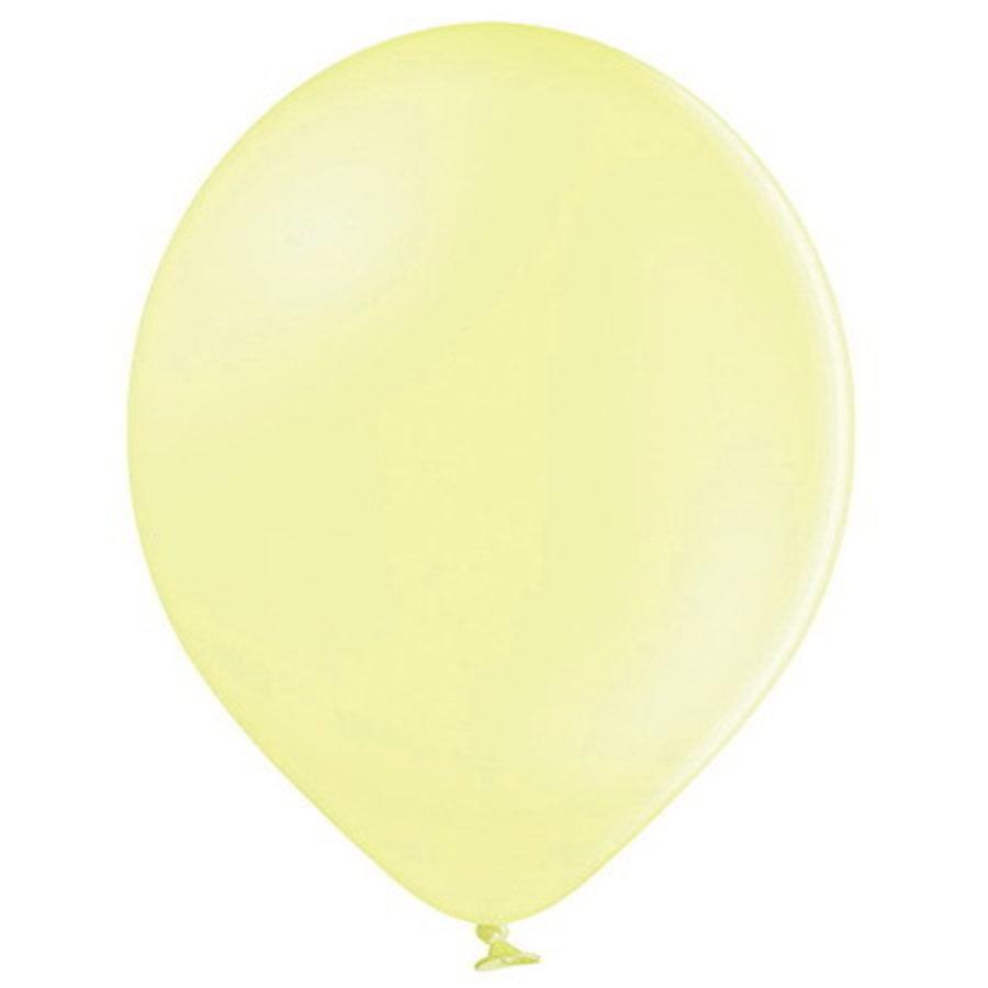 Ballonnen pastel lichtgeel 10 stuks