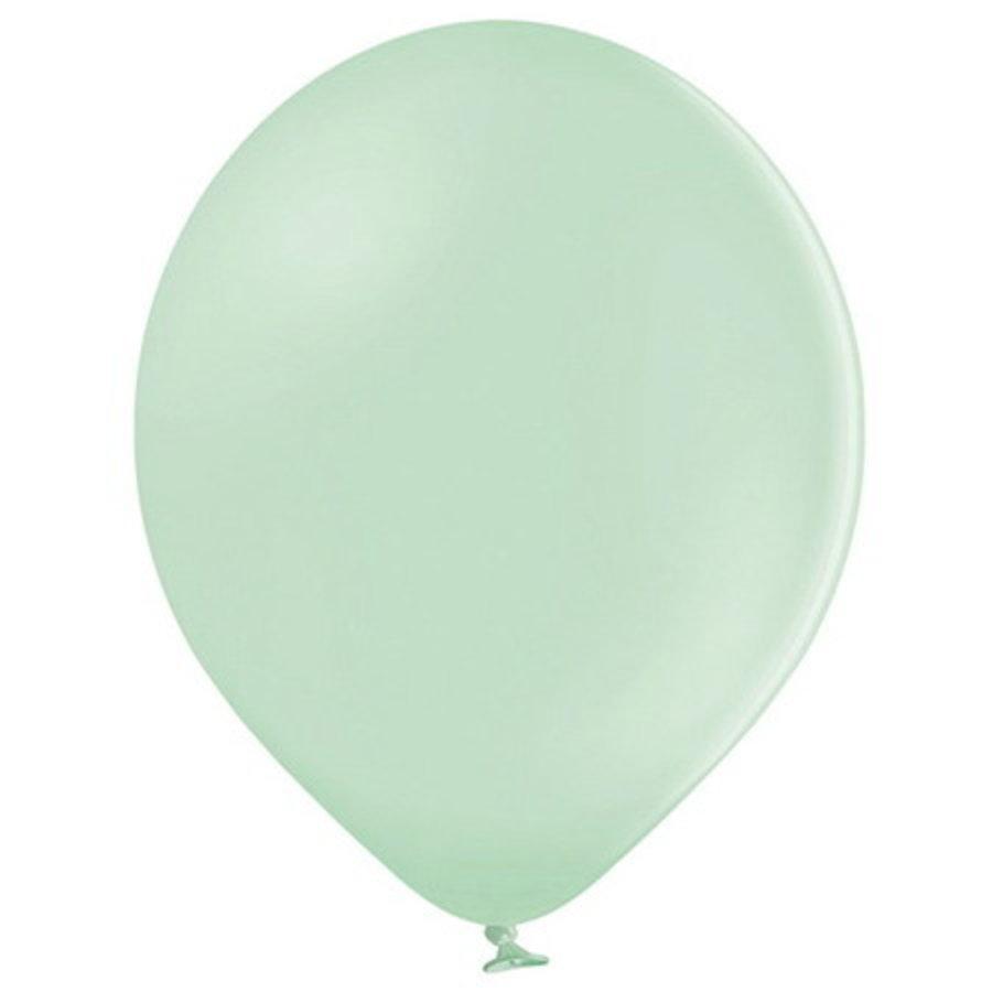 Ballonnen pastel pistache 10 stuks