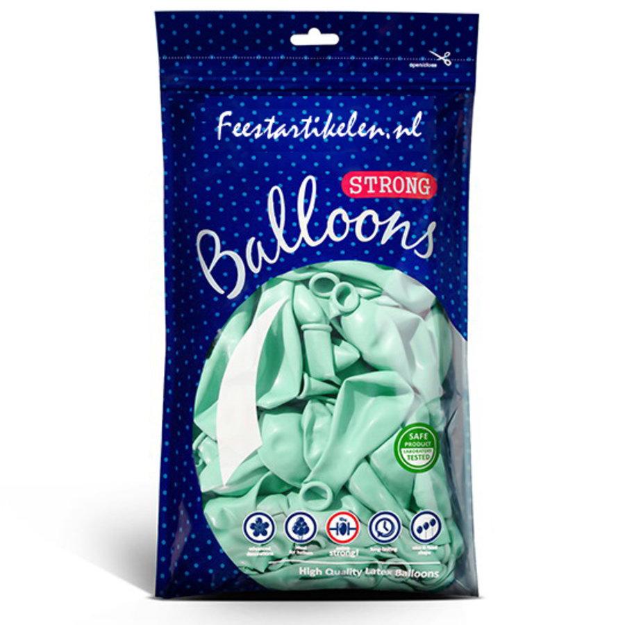 Ballonnen pastel licht mintgroen 100 stuks