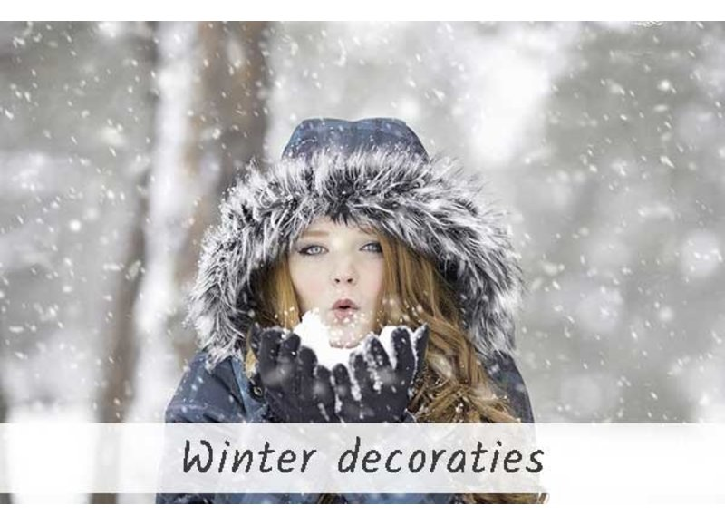 Winterse versiering en decoratie