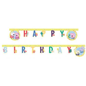 Letterslinger Peppa en vriendjes Happy Birthday