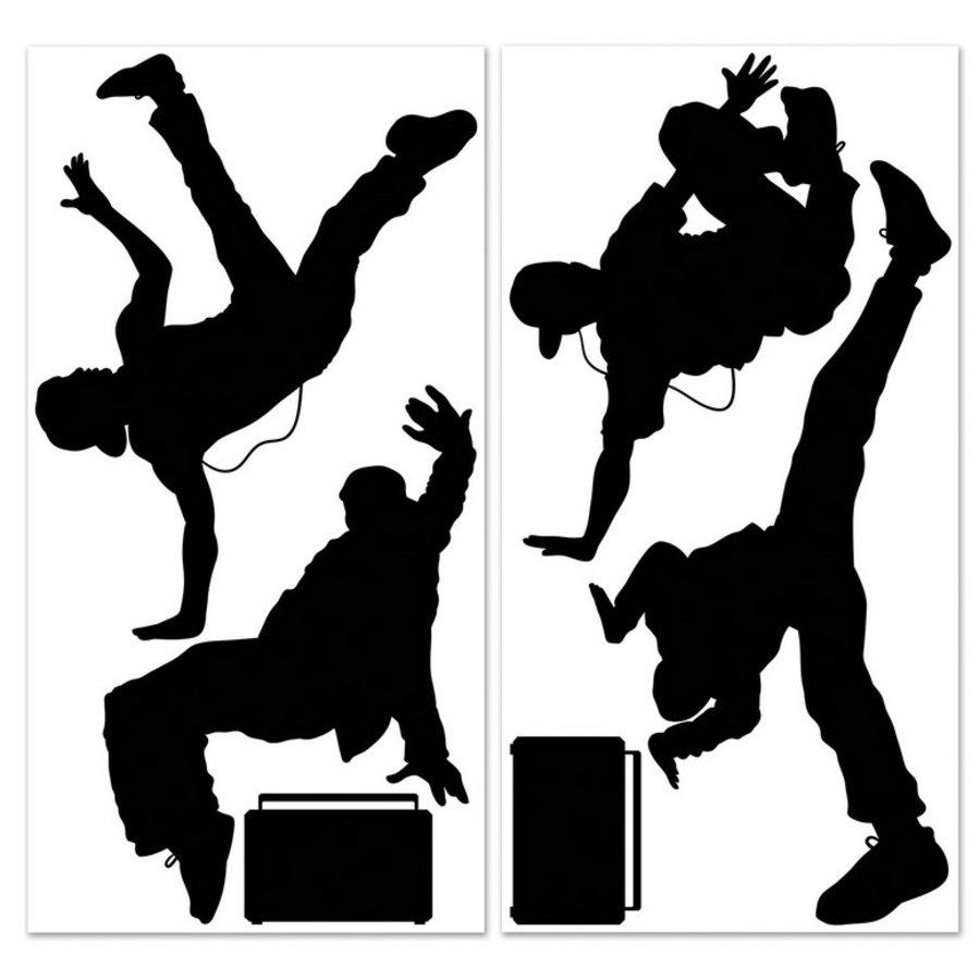 Decoratie posters Breakdance 2 stuks