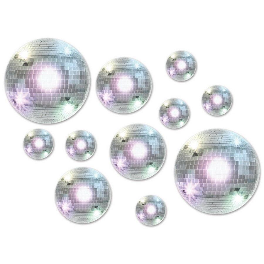 Decoraties discoballen 20 stuks