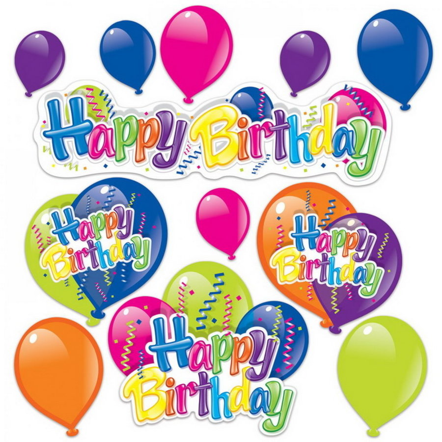 Decoratie Happy Birthday 12 stuks
