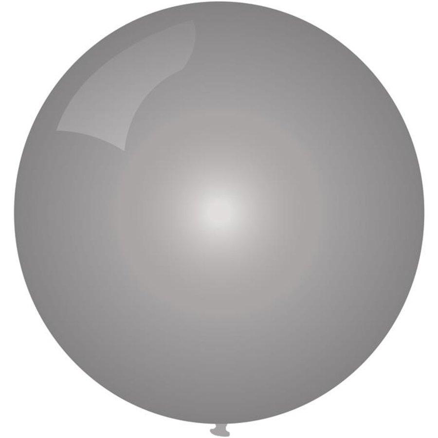 Ballon jumbo zilverkleurig 90cm