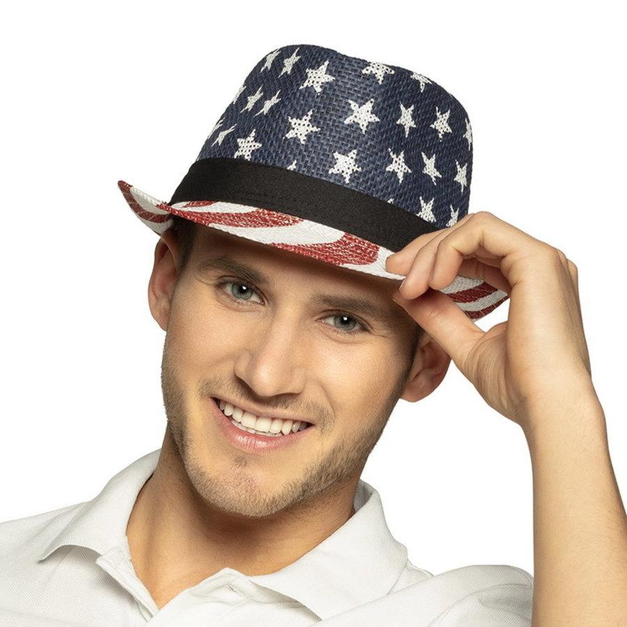 Hoed USA stars en stripes