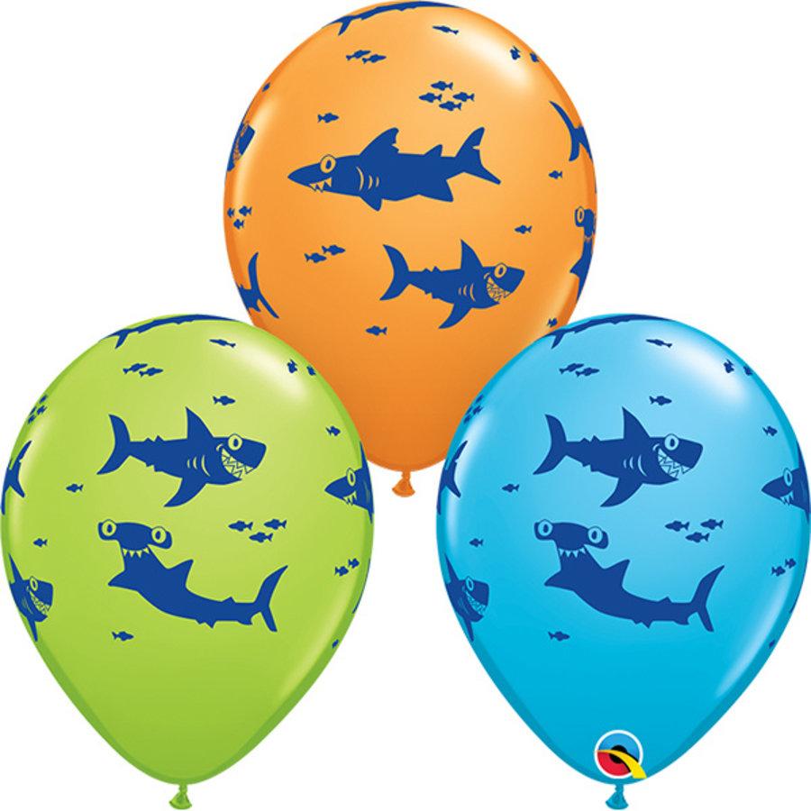 Ballonnen Haaien 6 stuks