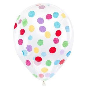 Confetti ballonnen met gekleurde confetti