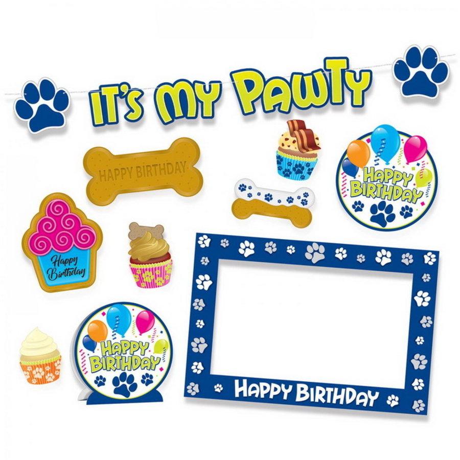 Verjaardag set voor honden 10 delig