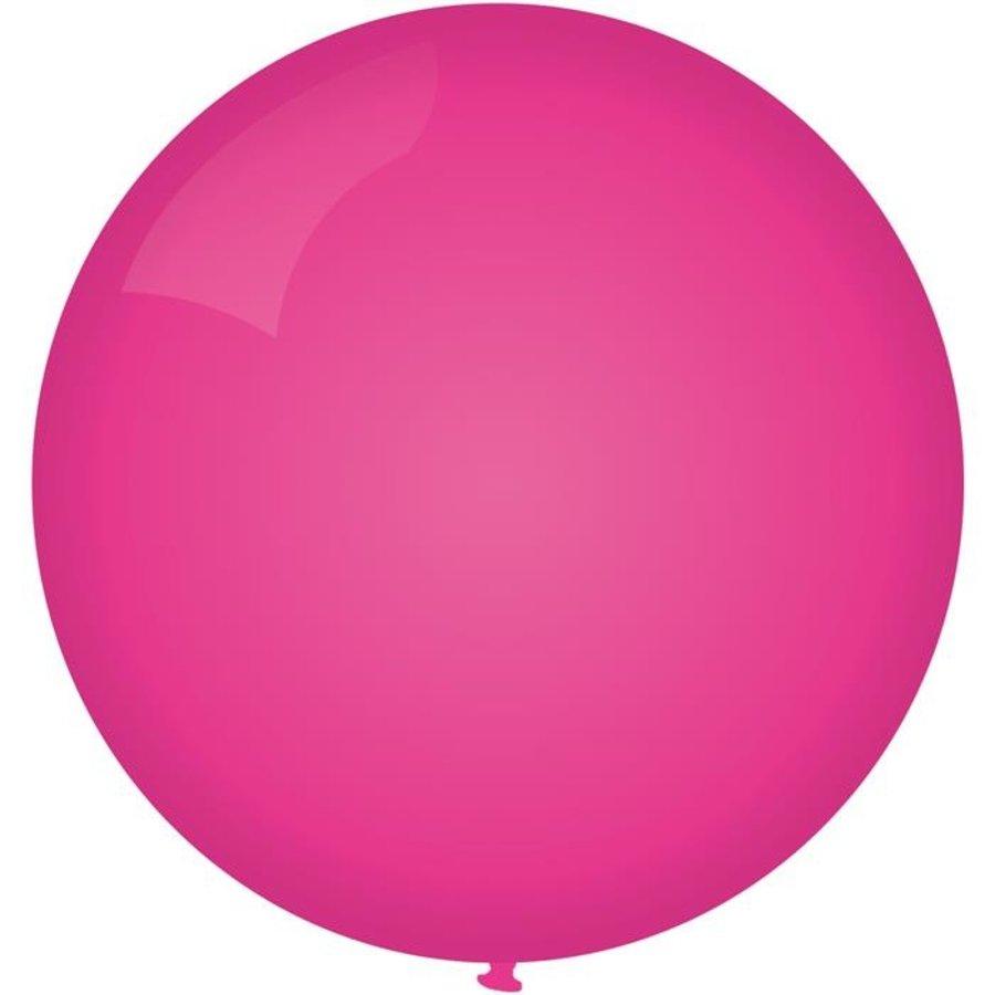 Ballon jumbo 90cm donkerroze