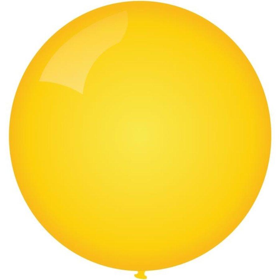 Ballon jumbo geel 90cm