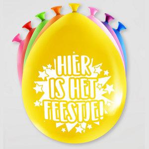 Ballonnen HOERA Hier is het feestje