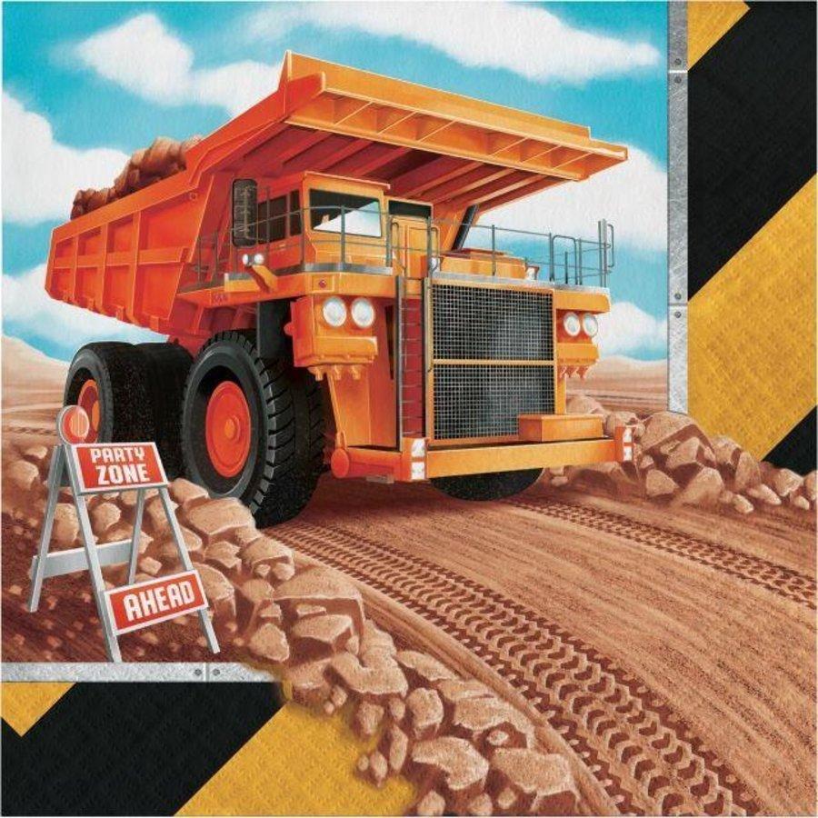 Servetten mega bouwauto 16 stuks