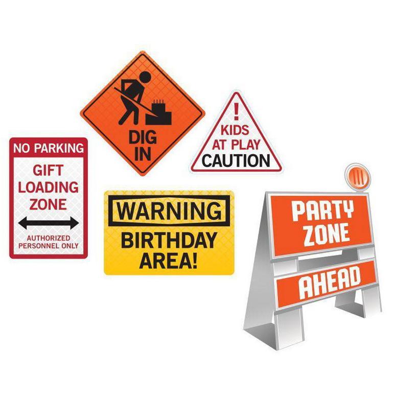 Decoratie Bouwvakkers Warning Signs