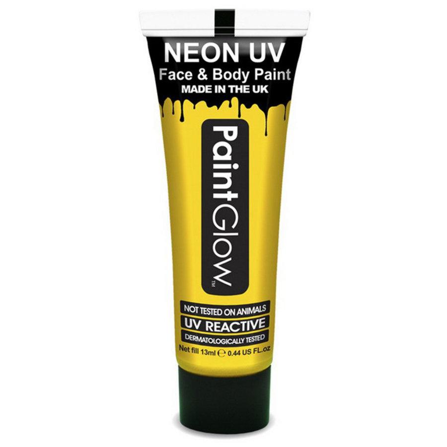 Neon UV paint glow geel