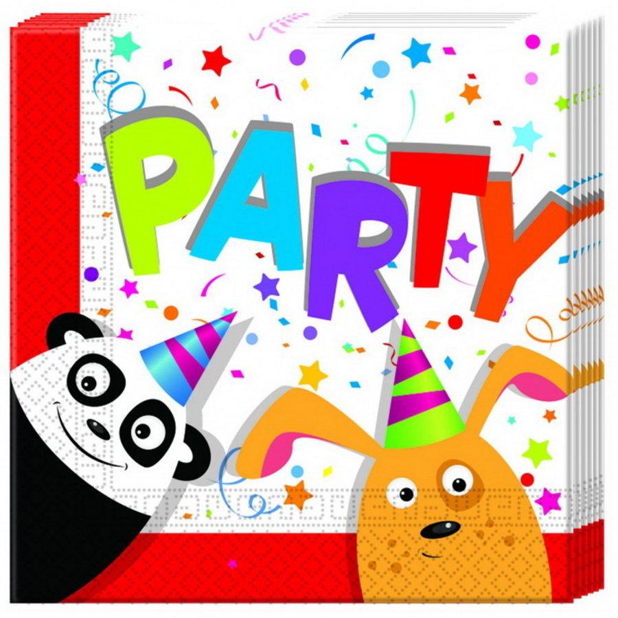 Servetten Panda & Friends 20 stuks