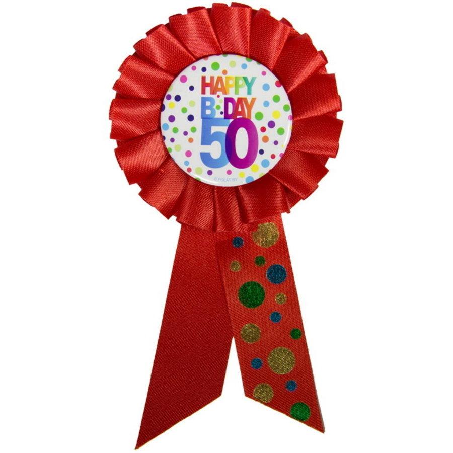 Rozet Happy B Day 50 jaar dots