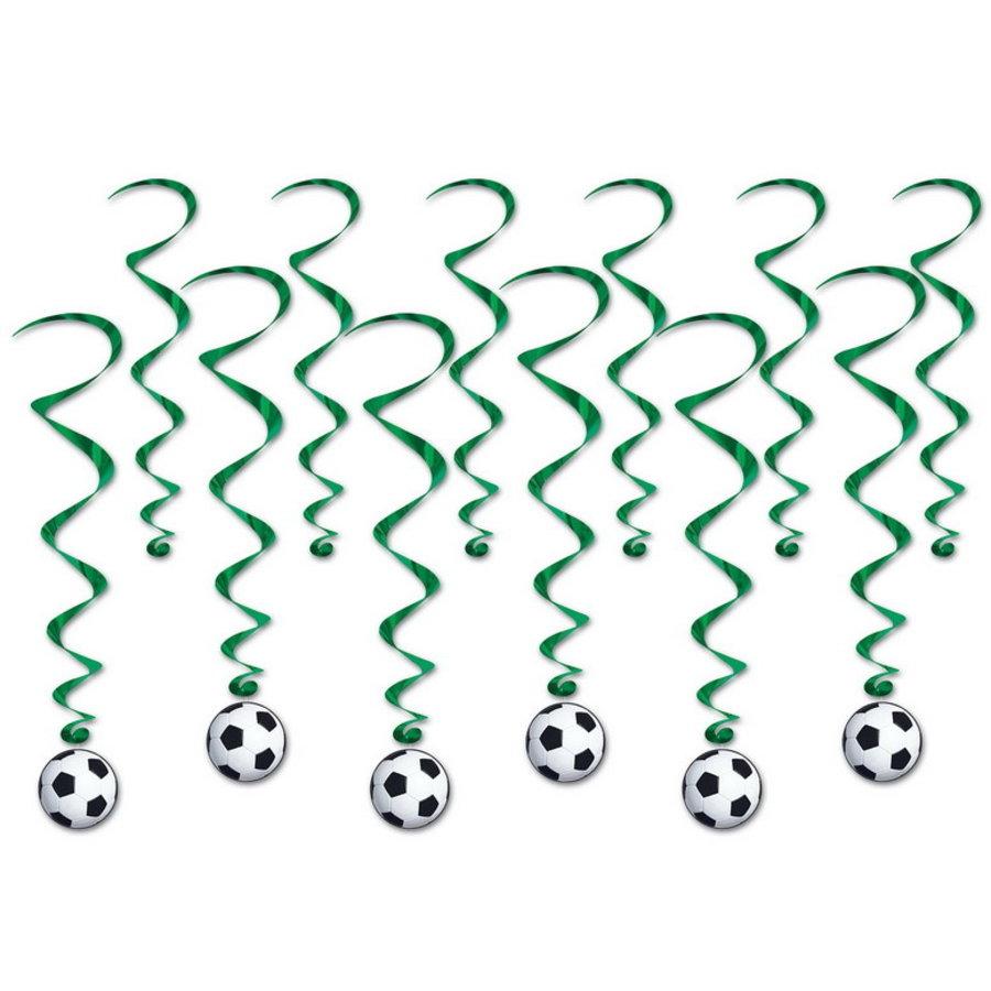 Hangdecoratie Whirls Voetbal 12 stuks