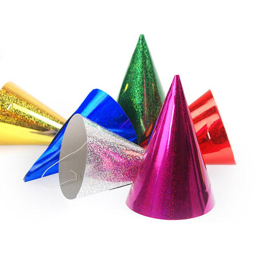 Hoedjes metallic glitter 24 stuks