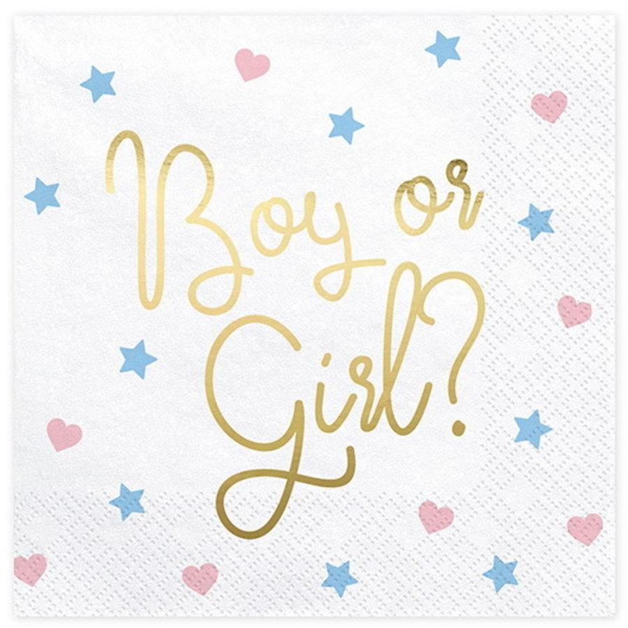 Servetten Boy or Girl 20 stuks