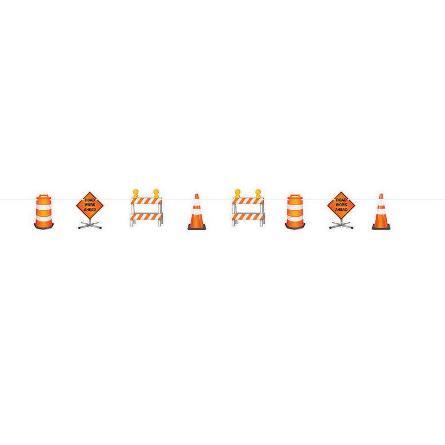 Slinger bouwauto's en wegwerk signs