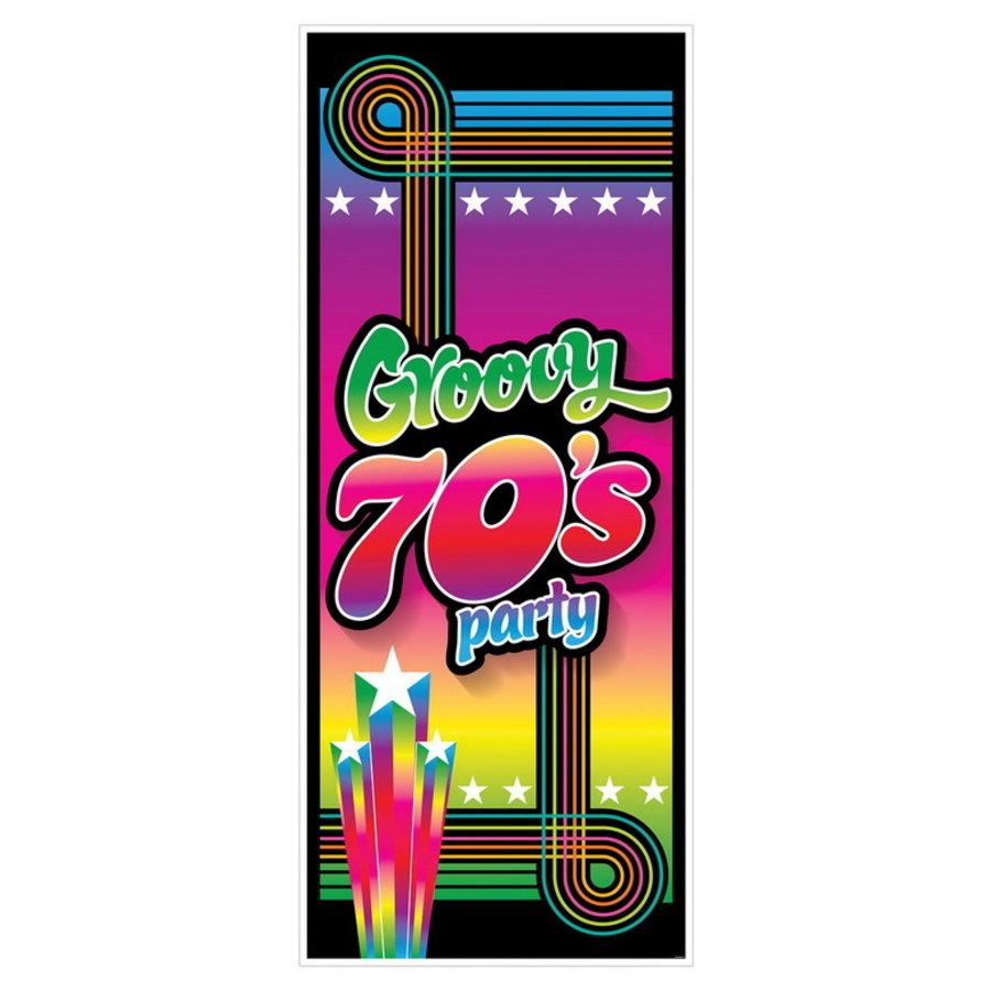 Deurposter Groovy 70's Party