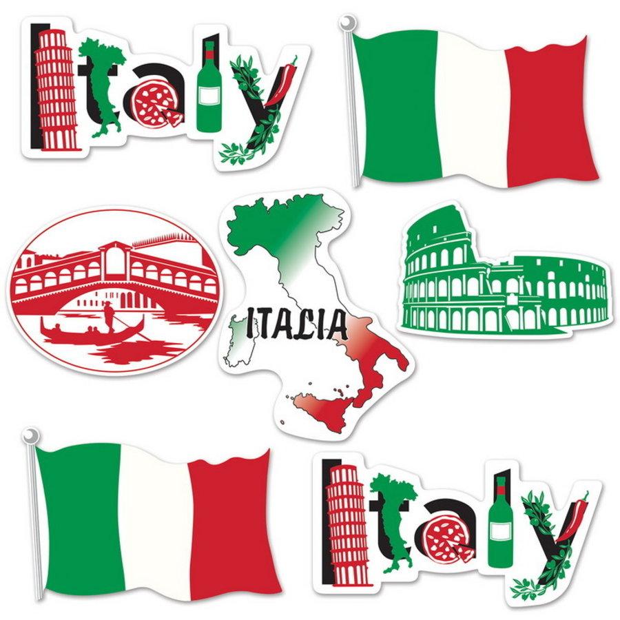 Decoraties Italië 7 stuks