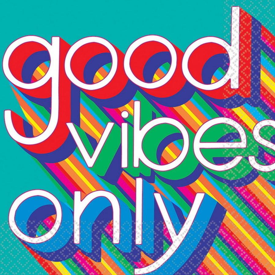 Servetten Seventies Good vibes only