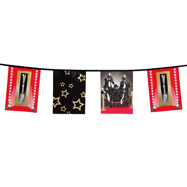 Vlaggenlijn Hollywood VIP vierkant